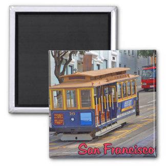 Drahtseilbahn in San Francisco Kühlschrankmagnet