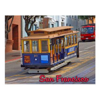 Drahtseilbahn in San Francisco Postkarte