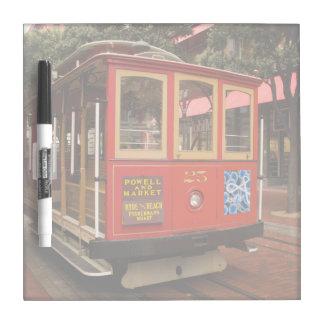 Drahtseilbahn-San Francisco trockenes Löschen-Bret Memoboard