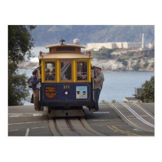 Drahtseilbahn tuckert herauf Hyde-Straße in San Postkarte