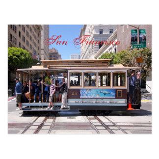 Drahtseilbahn von San Francisco Postkarte