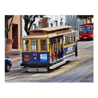 Drahtseilbahnen in San Francisco Postkarte