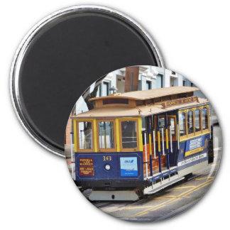 Drahtseilbahnen in San Francisco Runder Magnet 5,7 Cm