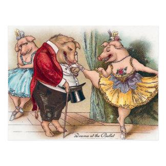 Drama am Ballett Postkarte