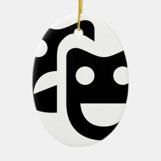 Drama-Gesichter Keramik Ornament