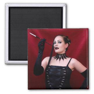 Drama-Königin - Magnet (fertigen Sie) besonders an Quadratischer Magnet
