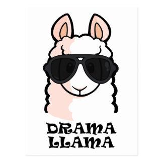 Drama-Lama Postkarte
