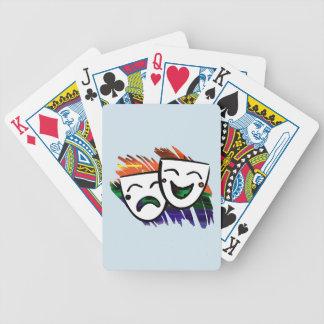 Drama-Spritzen der Farbe Bicycle Spielkarten