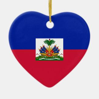 Drapeau d'Haïti - Flagge von Haiti Keramik Ornament