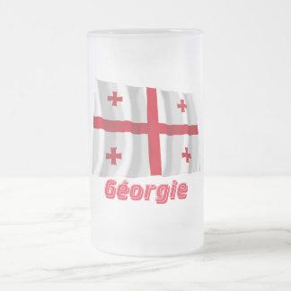 Drapeau Géorgie Avec le Nom en français Haferl
