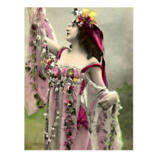 Drastisch in den Blumen Postkarte
