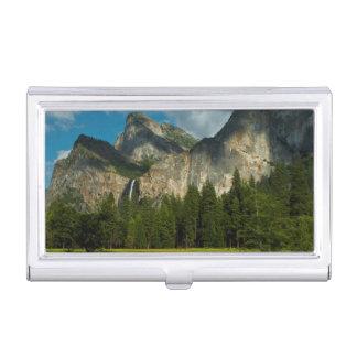 Drastische Ansicht von Yosemite-Tal von den Toren Visitenkarten Dose