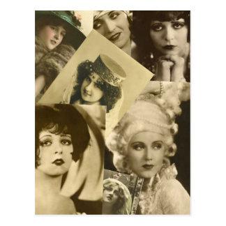 Drastische Frauen von der Vergangenheit Postkarte