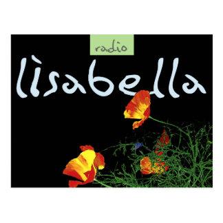 drastische Kalifornien-Mohnblumen auf Schwarzem Postkarte