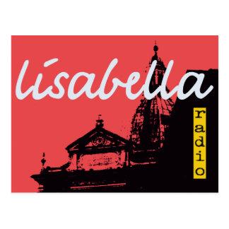 drastische vermilion Siena-Stadt-Silhouette Postkarte