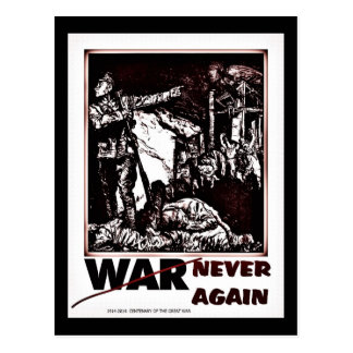 Drastischer hundertjähriger Erster Weltkrieg nie Postkarte