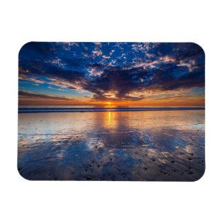 Drastischer Meerblick, Sonnenuntergang, CA Magnet