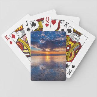 Drastischer Meerblick, Sonnenuntergang, CA Spielkarten