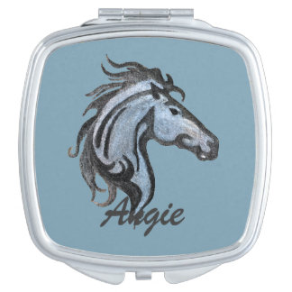 Drastischer Pferdevertrags-Spiegel Taschenspiegel