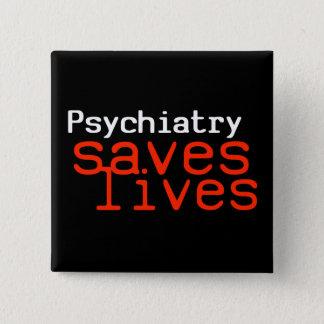Drastischer Pro-Psychiatrie Knopf (Quadrat)