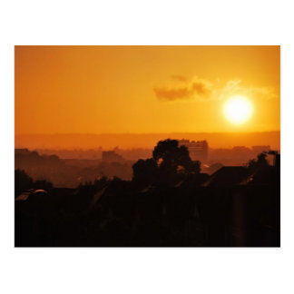 Drastischer Sonnenuntergang 3 Postkarte