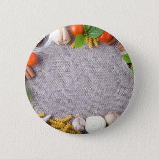 Draufsicht der Bestandteile für eine Mahlzeit Runder Button 5,7 Cm