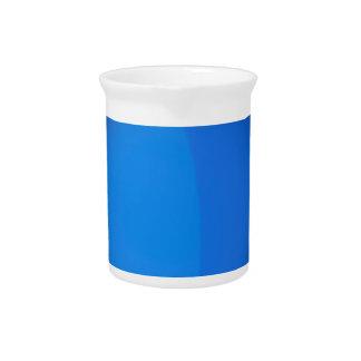 Draufsicht der blauen Farbe Krug