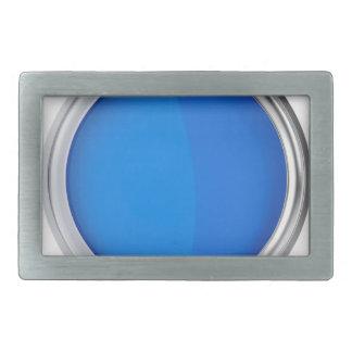 Draufsicht der blauen Farbe Rechteckige Gürtelschnalle