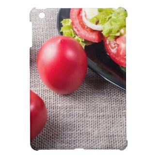 Draufsicht der Nahaufnahme über frische Tomaten iPad Mini Schale
