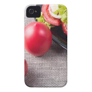 Draufsicht der Nahaufnahme über frische Tomaten iPhone 4 Cover