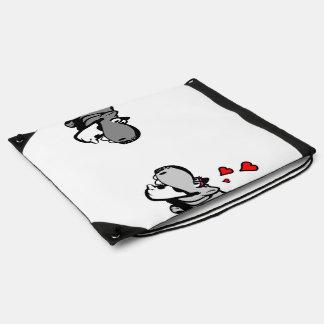 Drawstring-Rucksack - Flusspferd in der Liebe - Turnbeutel
