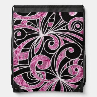 Drawstring-Rucksack-Zeichnen mit Blumen Turnbeutel