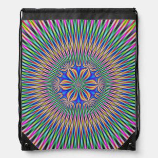 Drawstring-Taschen-Blumenmotiv in der Farbe Sportbeutel