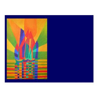 Dreamboat - Cubist-Kram in den Primärfarben Postkarte