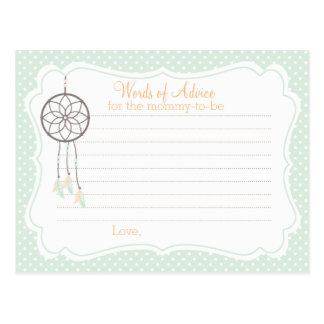 Dreamcatcher Babyparty-Ratekarte für Mama Postkarte