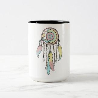 Dreamcatcher Entwurfs-Tasse Zweifarbige Tasse