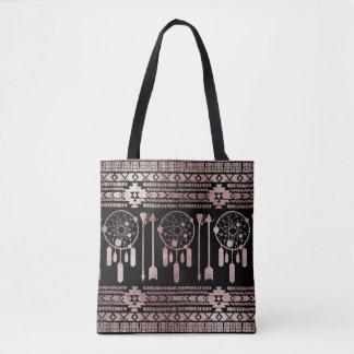 Dreamcatcher Rosen-Goldstammes- Azteke auf Tasche