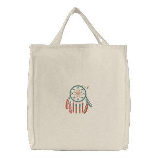 Dreamcatcher stickte Taschen-Tasche Bestickte Tragetasche