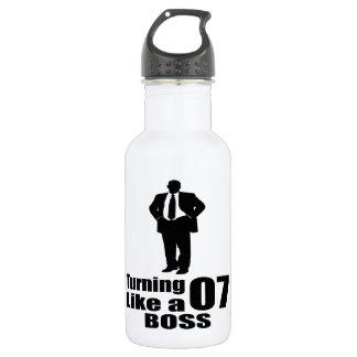Drehen 07 wie ein Chef Edelstahlflasche