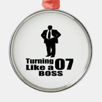 Drehen 07 wie ein Chef Silbernes Ornament