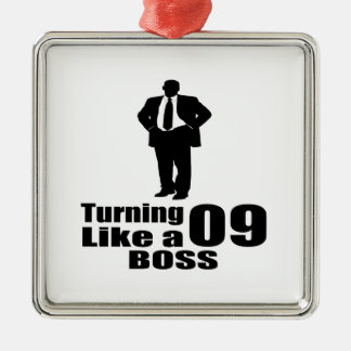 Drehen 09 wie ein Chef Quadratisches Silberfarbenes Ornament