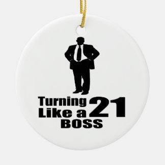 Drehen 21 wie ein Chef Keramik Ornament
