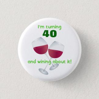 Drehen 40 mit Weinglasknopf Runder Button 2,5 Cm