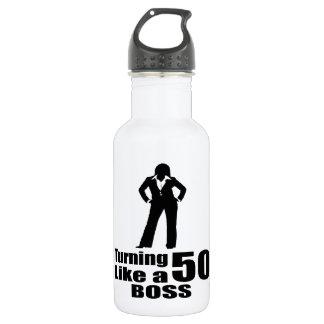 Drehen 50 wie ein Chef Trinkflasche
