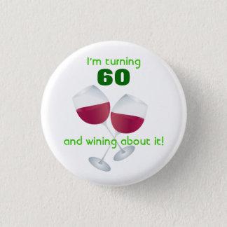 Drehen 60 mit Weinglasknopf Runder Button 3,2 Cm