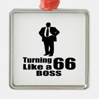 Drehen 66 wie ein Chef Silbernes Ornament