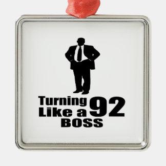 Drehen 92 wie ein Chef Quadratisches Silberfarbenes Ornament