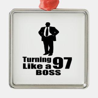 Drehen 97 wie ein Chef Silbernes Ornament