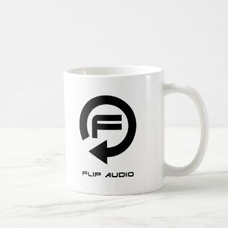 Drehen Sie AudioTasse - schwarzes Logo um Kaffeetasse