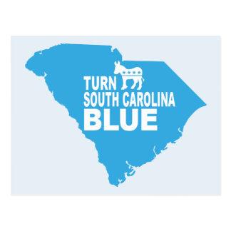 Drehen Sie blaue Abstimmung Demokraten South Postkarte